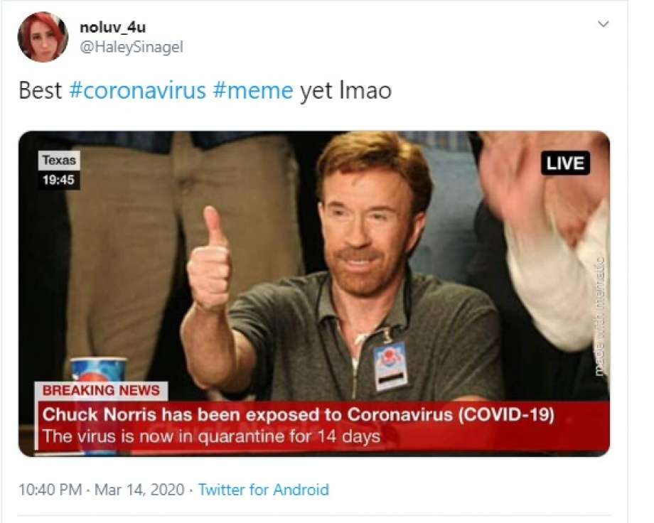 Chuck Norris defeated Corona Image